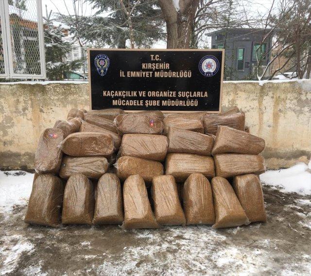 POLİS 390 KİLOGRAM KAÇAK TÜTÜN BULDU