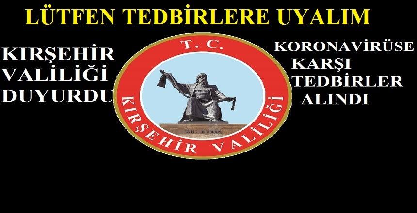 KORONAVİRÜSE TEDBİRLER ALINIYOR